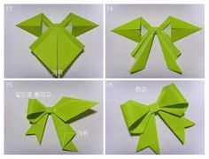 Origami bow 4 tute  http://pdxpursuit.wordpress.com/2011/02/28/origami-bow/