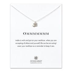 ommmmmmm, om charm necklace, sterling silver