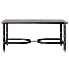 20th Century French Low Table by Jacques Adnet | From a unique collection of antique and modern coffee and cocktail tables at http://www.1stdibs.com/furniture/tables/coffee-tables-cocktail-tables/