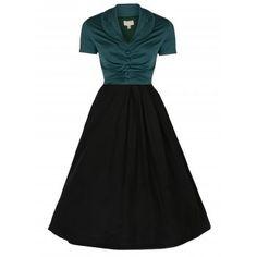Elsa Green Black Jive Dress | Vintage Inspired Fashion - Lindy Bop. Christmas party possibility