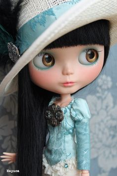 ♥  Doll for Jacqui. Ooak Takara custom Blythe doll Christina by Mapuca via Etsy