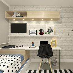Bom dia! Quarto atemporal! Small Bedroom Designs, Small Room Bedroom, Kids Bedroom, Boys Room Decor, Bedroom Decor, Dream Furniture, Fashion Room, Apartment Design, Room Inspiration