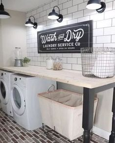 30+ Amazing Laundry Room Ideas I Found for Your Inspiration #laundryroom #laundryroomideas #laundryroomdesign ~ pandacup.org Mudroom Laundry Room, Laundry Room Remodel, Laundry Room Organization, Laundry Room Design, Laundry Decor, Laundry Room Countertop, Organized Laundry Rooms, Laundry Signs, Laundry Room Folding Table