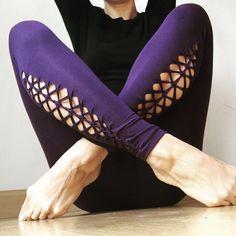 CROSS-HATCH women's braided leggings, tribal, boho, yoga