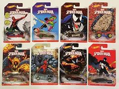 2014 Hot Wheels Spider Man Collection ALL 8 VEHICLES!!. Exclusive Spider-Man Hot Wheels Series. Hard to find casting of #8 EVIL TWIN car!. Die-Cast Vehicles featuring the spider-man from Marvel. 1:64 Scale 2014 Collection. Complete set.