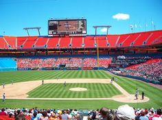 Florida Marlins~Pro Player Stadium in Miami Gardens, FL. Game: 8/17/02 vs Giants with Aindriu.