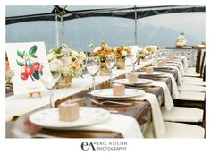 Vintage Donner Lake Wedding at West End Beach - a beautiful burlap, lace, ivory and peach wedding. <3