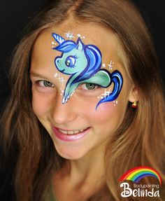 pinterium - Famous Last Words Face Painting Unicorn, Face Painting For Boys, Unicorn Face, Face Painting Designs, Boy Face, Kids Makeup, Unicorn Makeup, Belly Painting, Fantasy Makeup