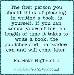 the person you should think of pleasing
