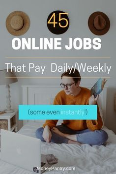 Wanna work online and get paid quickly? These legit online jobs will pay you daily or weekly. by moneypantry Read Get Paid For Surveys, Online Surveys For Money, Easy Money Online, Earn Money From Home, Online Earning, How To Make Money, Earning Money, Money Fast, Legitimate Online Jobs