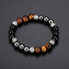31 Μαϊ 2018 - Cute Vintage Tiger-eye Mens Womens Beaded Bracelet Natural Stone Beads Buddha Bracelet for Women Men - NewChic Fashion Bracelets, Fashion Necklace, Jewelry Bracelets, Fashion Jewelry, Women Jewelry, Bead Bracelets For Men, Leather Bracelets, Ankle Bracelets, Crystal Bracelets