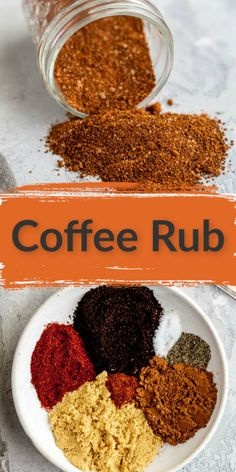 This robust coffee rub is simple, unique, and delicious. With ingredients like coffee and cocoa, this rub helps to enhance the flavor of grilled meat. Pairs perfectly with steak! Homemade Spice Blends, Homemade Spices, Homemade Seasonings, Homemade Recipe, Spice Mixes, Coffee Rub Recipe, Bbq Rub Recipe, Coffee Recipes, Grill Seasoning Recipe