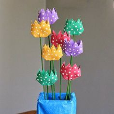 Lavoretti per bambini: Centrotavola con il riciclo creativo dei rotoli di carta igienica