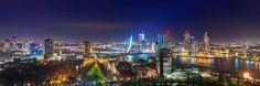 Oorthuis fotografie Rotterdam skyline by night