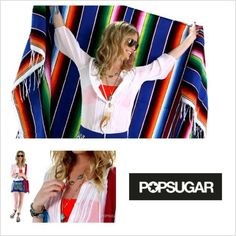 #Popsugar's outfit ideas for #Coachella 2013! Model is wearing #heathergardner Turquoise Statement necklace, Earth Elements necklace & Black Diamond Sundial bracelet.