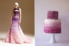 Wonder how this purple ombre cake would look in shades of grey?