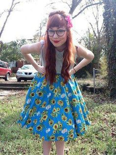 We have the best community! Here, #stylegallery gal, Katie M. shows off the Sunflower Sunset Skirt.
