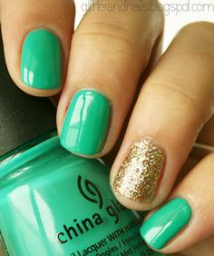 Green and gold glitter!