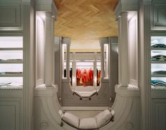 The extravagant Viktor & Rolf store in Milan is surprisingly neoclassical built completely upside down.