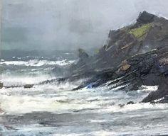 "Mark Kelvin Horton     ""Rising Tide"", Detail of a 12x24, oil on birch panel. North Devon, England"