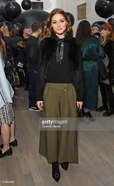 Olivia Palermo attends the Markus Lupfer show during London Fashion Week February 2018 at The Swiss Church on February 17, 2018 in London, England.