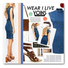 """""""Denim"""" by tasnime-ben ❤ liked on Polyvore featuring Anja, Marc Jacobs, Urban Decay, yoins and yoinscollection"""