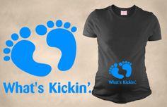 What's Kickin Maternity T Shirt Funny Pregnancy Shirt Pregnant Tees T Shirt For Pregnant Woman on Etsy, $29.50