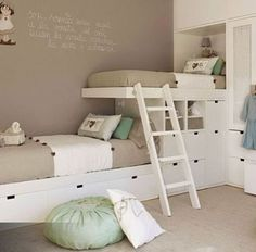 76 Cute Kids Bedroom Furniture Bunk Beds Ideas - About-Ruth Bunk Bed Rooms, Bunk Beds Built In, Cool Bunk Beds, Bunk Beds With Stairs, Kids Bunk Beds, Built In Beds For Kids, Kids Storage Beds, Bunk Beds Small Room, Double Bed For Kids