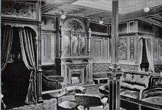 The Drawing Room of the Cunard Steamships Campania and the Lucania.