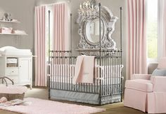 Elegant Pink White Gray Baby Girl Room of Wonderful Baby Room Design Ideas For New Parents from Kids Room Designs