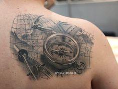 mapa, brujula, compas