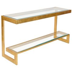 Worlds Away Noho Gold Low Console Table