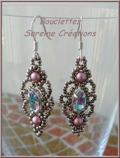Another pretty idea for earrings made from sew in crystals   bouclettes4