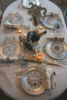 Lovely New Year's table setting