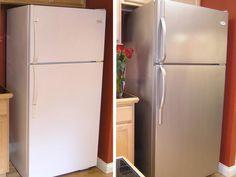 Pour relooker votre cuisine, peignez votre vieux frigo sans hésiter