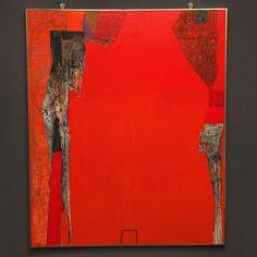 Claudio Gotti Red composition 100x100 #claudiogotti #fluidofiume #arte #artshow #artgallery #paint #oiloncanvas #red #emotion #triestesocial #triesteart #trieste #googlephotos #informale