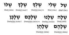 #Hebraico pronomes-possesivos