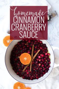 Cinnamon Cranberry Sauce Recipe for Thanksgiving | As a dipping sauce for my turkey or spread over a buttery roll either way this cinnamon cranberry sauce is always at my table during the holidays. || Oh So Delicioso
