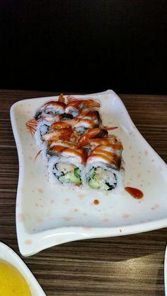Black dragon maki roll.