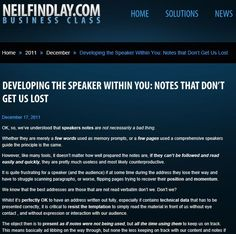 Developing The Speaker Within You: Notes That Don't Get Us Lost.  Stay on track with these key steps...