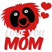 Love Cuts Love You Mom, Tank Tops, Cute, Red, Image, Design, Women, Fashion, Moda