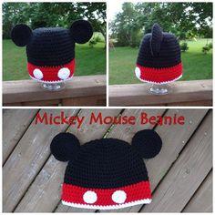 Mickey Mouse Crochet Hat PATTERN PDF 6 Sizes by CPCrochetCanada, $3.99