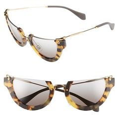 e655bdd22e6 Miu Miu  Noir  52mm Semi-Rimless Cat-Eye Sunglasses ( 415)