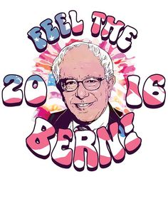 Bernie Sanders Feel The Bern fabric electra_designs Spoonflower