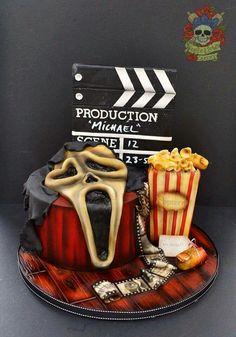 Horror cake, scream movie cake Halloween