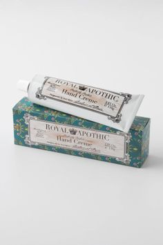 Royal Apothic Hand Creme - bought a tube of this on a lark at Anthropologie and it's already my favorite hand cream ever--light, not greasy, and I adore the smell! Beauty Myth, Beauty Bar, Bridal Registry, Fresh Makeup, Perfume, Cosmetic Packaging, Queen, Hand Cream, Beauty