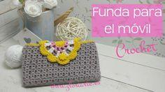 Funda para móvil o tablet con mandala de ganchillo. Case for mobile, tablet, with crochet mandala. - YouTube