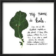 Mr. Kale - Vegetable Art Print <3 so cute!