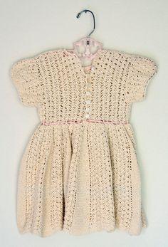 Vintage Toddler Knit Dress by lexy73 on Etsy