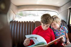 Sick of bickering in the backseat? Keep kids engaged and parents sane with Heather Greenwood Davis's tips. [Photograph by Mieke Dalle, Corbis]